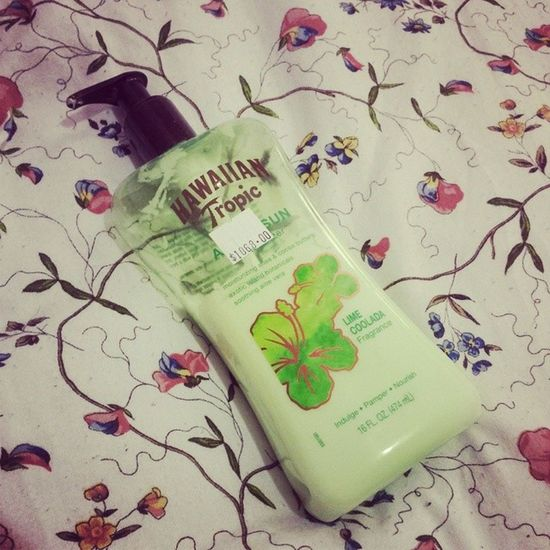 It's ok to use aftersun as normal moisturiser right?! Hawaiiantropic Limecoolada Delicious FromJamaica Thebest
