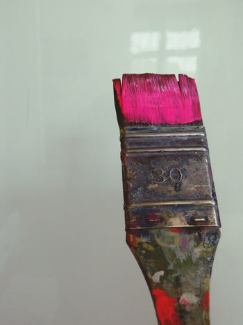 Paint Brush Neon Pink Close-up Vibrant Color No People Red Close-up Vibrant Color