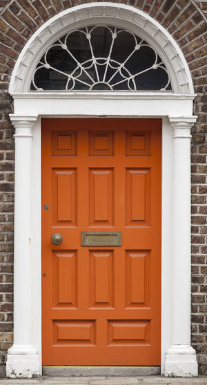 Dublin Individuality Ireland Old Fashioned Orange Resistance  Wood Architecture Building Exterior Civil Day District Door English Entrance Gregorian Historical Law Medieval Neighborhood No People Outdoors Series
