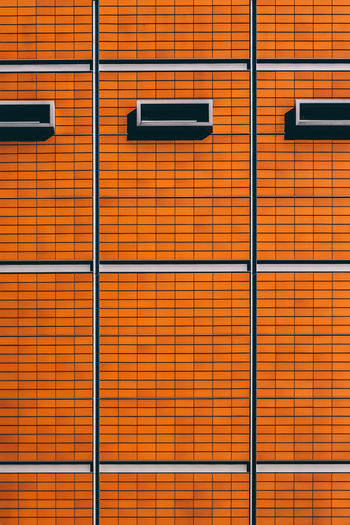 wall Architecture Background Background Texture Backgrounds Bright Building Close-up Closed Color Day Full Frame Indoors  Lock Locker Room No People Orange Pattern Streetphotography Surface Texture Wall EyeEmNewHere EyeEmNewInHere EyeEm Best Shots The Architect - 2017 EyeEm Awards Colour Your Horizn