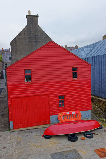Stromness Harbour, Orkney Island, Scotland Cruise Ship Ferry Harbour Inter Island Ferries Architecture Art Gallery Boat Ramp Building Exterior Built Structure City Communication House Island Life Ring North Sea Port Post Office Red Tin Residential District Tourism Town Travel Destinations