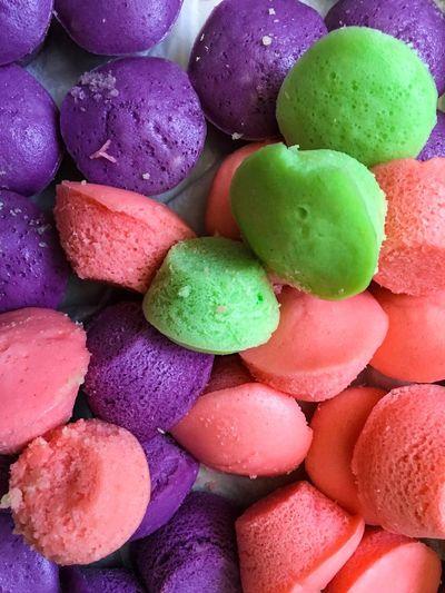 PUTO (Philippine Rice Cake) Puto Food Multi Colored Full Frame Food And Drink Sweet Food Sweet Backgrounds Dessert Indulgence