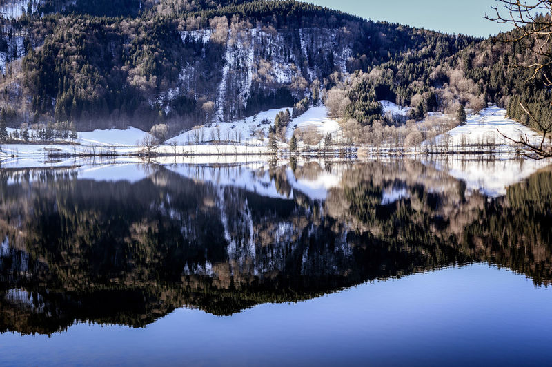 Picture from the snowy Schliersee Bavaria Schliersee Beauty In Nature Beauty In Nature Cold Temperature Color Image Day Germany Health Resort Lake Landscape Mountain Nature No People Outdoors Reflection Scenics Sky Snow Tranquil Scene Tranquility Tree Water Waterfront Winter