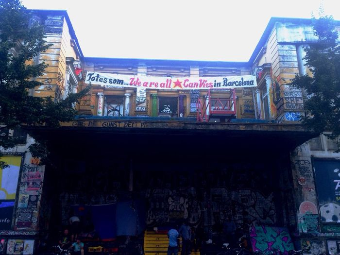 Barcelona Canvies Solidarity . Writings On The Wall Activism Art