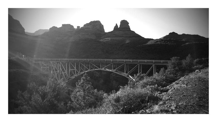 Sedona, Arizona Sedona Thompson Trail Bridge Bridge Over Canyon Blackandwhite Photography Nature Photography Tranquil Scene Hiking❤ Vacation Vaca Camping