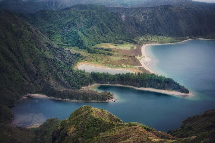 Awesome viewpoint at Sao Miguel- Azores Tranquility Landscape Tranquil Scene Water No People Nature High Angle View Beauty In Nature Scenics Mountain Azores Sao Miguel Lake View Lakeshore Check This Out Nature