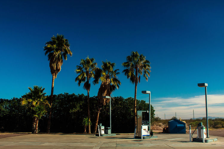 Gas Station During Sunny Day