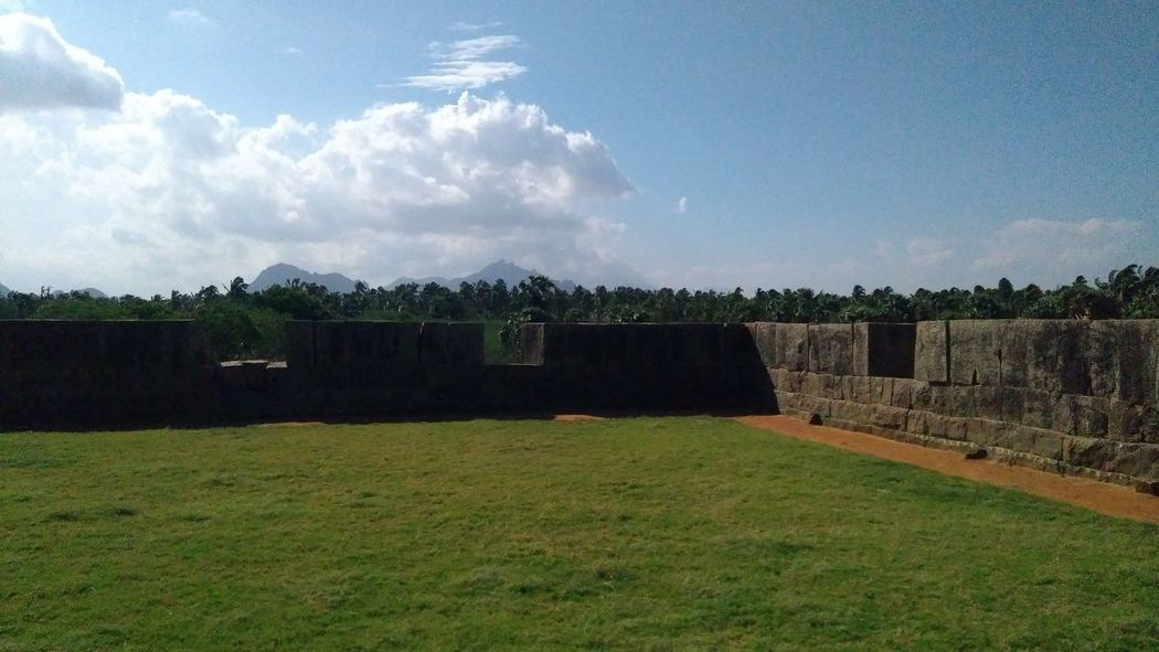 fort in Kanyakumari Natures Colors Cloud - Sky Grass Sky No People Outdoors Space Day