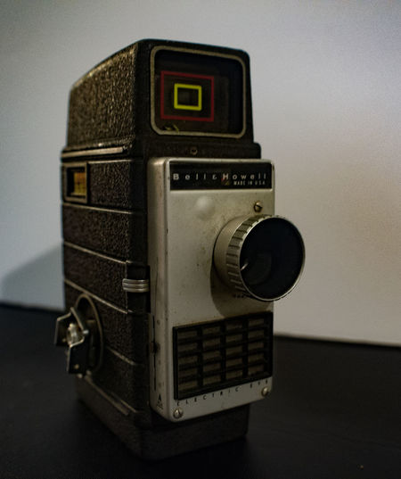 8mm Bell and Howell home movie camera found at the thrift store. 8mm Camera Camera Detail Equipment Movie Camera Old-fashioned Photography Themes Retro Styled Technology