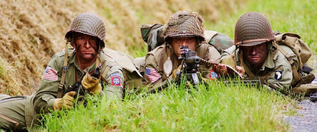 Reenactment Dday Carentan Normandie Paratroopers Sainte Mère Eglise Airborne Airborne All The Way 82nd Airborne Division 101st Airborne Division