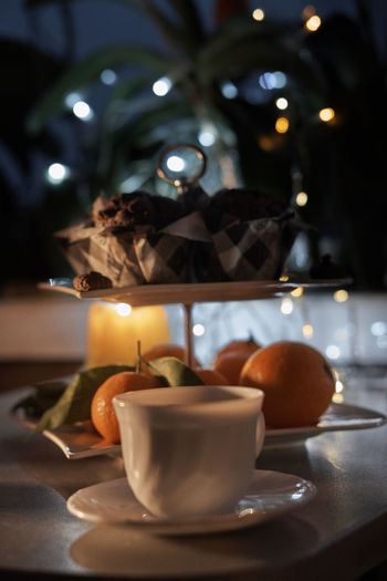 Orange Burning Close-up Day Flame Food Food And Drink Freshness Healthy Eating Heat - Temperature Hottea Illuminated Indoors  Mufins No People Refreshment Table Food Stories