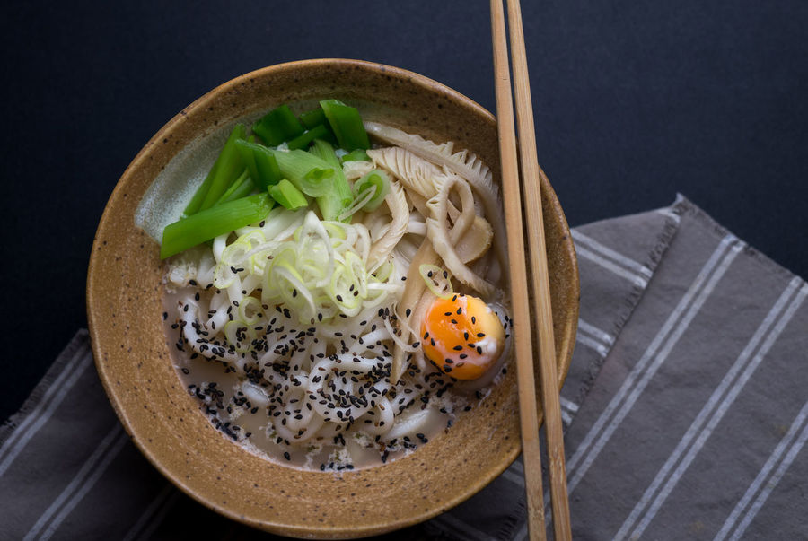 Japanese Food Udon Noodles Bowl Chopsticks Close-up Day Food Food And Drink Freshness Healthy Eating Indoors  No People Noodles Ready-to-eat