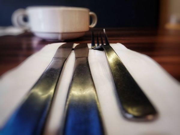 blur Knives EyeEm Selects Fork Cup Blurred Motion Blur Perspective Indoors  Selective Focus No People Close-up Day