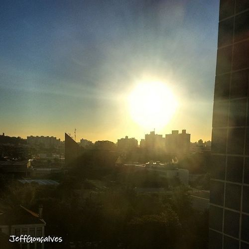Final de Tarde na Pucrs . Sun Sunset Pordosol Sky MundoPucrs Tarde  Sol