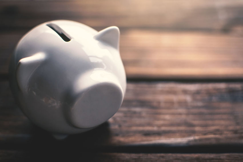 Business Finance Investment Piggy Bank Savings Table