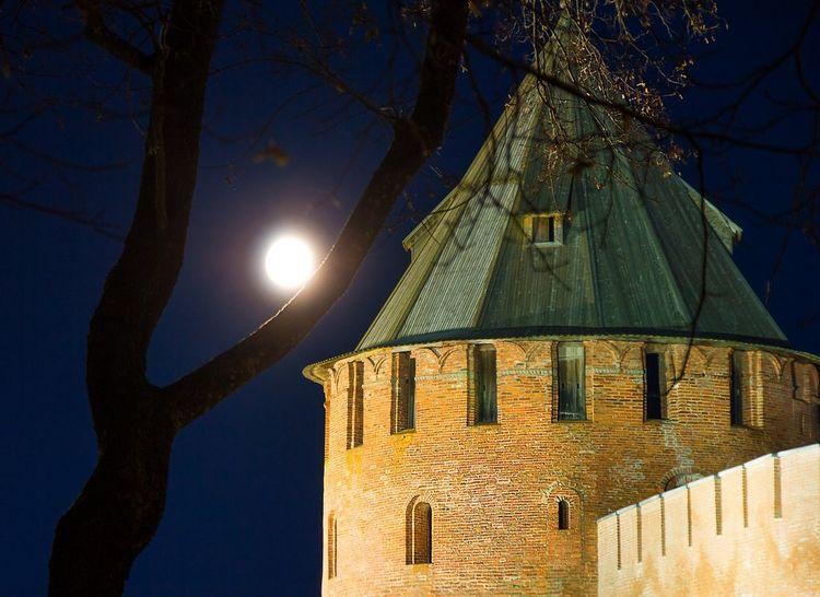 Night Moon Illuminated Sky Architecture Low Angle View Travel Destinations History Novgorod NovgorodtheGreat No People Outdoors City