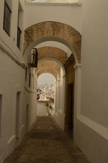 Alley Alleyway Arch Arch Way Architectural Feature Architecture Built Structure Day In The Shade No People SPAIN The Way Forward Through The Arch White Building