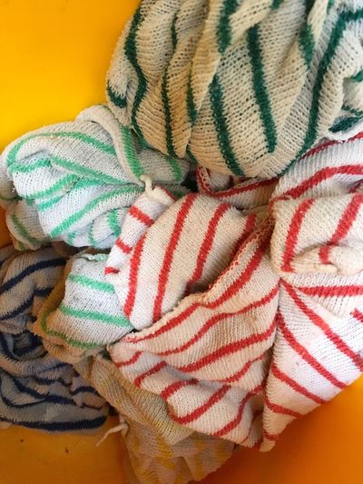 Close-up No People Multi Colored Cleaning Cloth Dusters Cleaning Equipment Stripes
