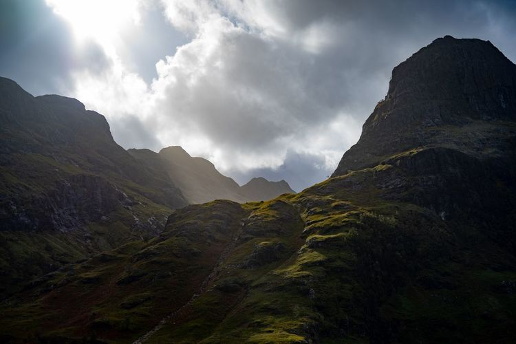 Glen Coe Scotland Scottish Highlands Glencoe Mountain Fog Sky Landscape Cloud - Sky Hiker Mountain Range Mountain Ridge Scenics Mountain Road Mountain Peak Valley Tranquil Scene Idyllic Hiking