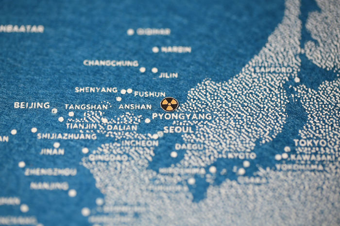 ASIA Doomsday Korea Map Missile North Korea North Korea Photos Nuclear Power Politics Conflict Crisis Danger Global Maple Leaf No People Nuclear Nuclear Disaster Situation War ınternational