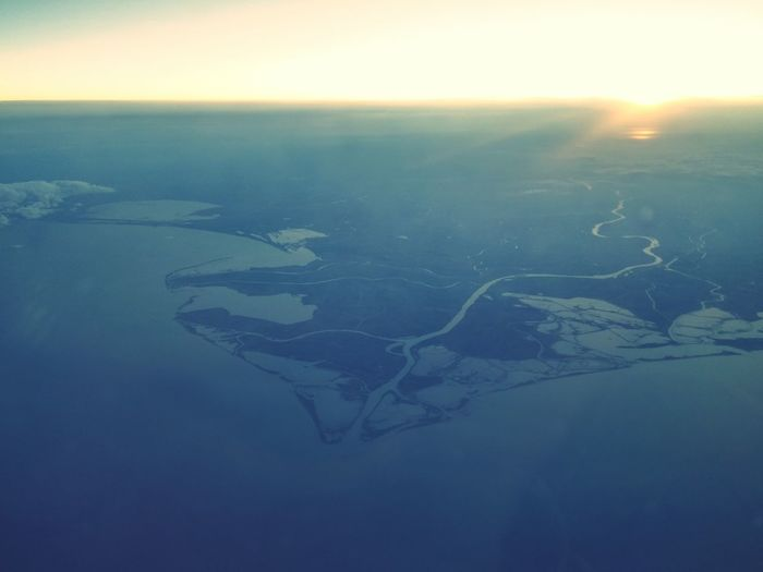 From the sky Water Aerial View Scenics Sea Beauty In Nature Landscape Horizon Over Water Majestic Seascape Non-urban Scene Sunny Sky Sun Sunlight Blue Water Surface