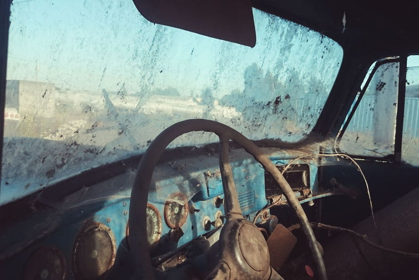 Old Car Old Truck International Truck Cobwebs Abandoned Vehicles Abandoned Dusty Steering Wheel Ghostly