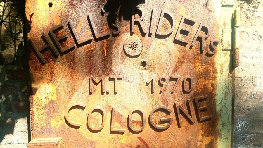 Former Hell's Riders HQ Cologne Light And Shadow Kölner Südstadt Friedenspark Iron Door Cologne