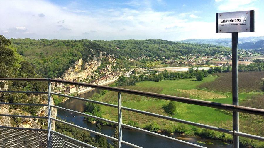 Super View of La Roque-Gageac from 192 Metres up in the Château De Marqueyssac Gardens with just a hint of Virtigo