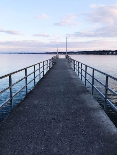 Ohne way to water-Constance Lake Germany EyeEm Best Shots Water Sky Sea Direction The Way Forward Scenics - Nature Cloud - Sky Pier Tranquility Tranquil Scene Railing Day Idyllic Beauty In Nature Horizon Horizon Over Water Nature Outdoors No People