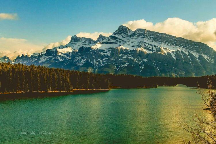 Alberta Banff National Park  Canada Landscape Mountain