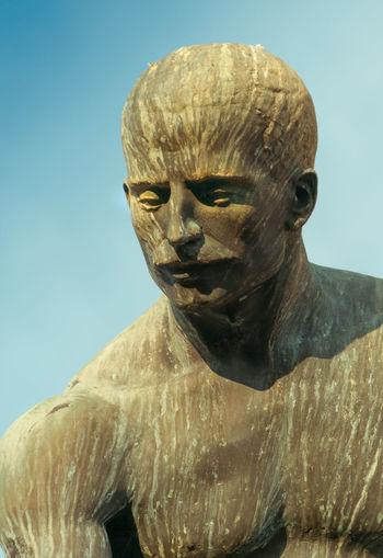 Dortmund Stein Platz Art And Craft Clear Sky Close-up Day Human Representation No People Outdoors Sculpture Statue