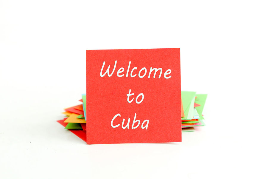 cuba Close-up Communication Cuba Day Habana Indoors  No People Note Papers Paper Red Text Welcome Welcome Note White Background