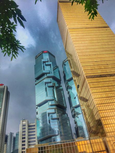 After rain, feeling fresh Architecture Building Exterior Built Structure Skyscraper Low Angle View Modern Sky City City Skyline Cityscapes Highrise Modern Architecture HongKong Hong Kong Hong Kong Architecture Metro After The Rain Storm Cloud
