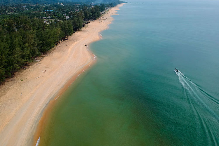 Dronephotography Droneshot Drone View Drone  Aerial View Sea Water Beach Nautical Vessel Tree Sand Sand Dune Sky Landscape Seascape Rocky Coastline Horizon Over Water Wave