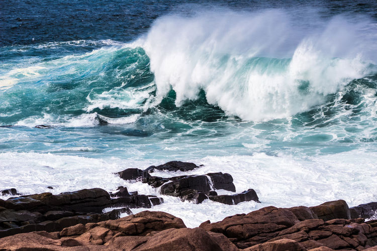 SPECTACULAR Atlantic Ocean Magnificent Aquatic Sport Beach Beauty In Nature Breaking Day Flowing Water Hitting Motion Nature Outdoors Power Power In Nature Rock Rock - Object Rock Formation Scenics - Nature Sea Solid Splashing Sport Surfing Water Wave