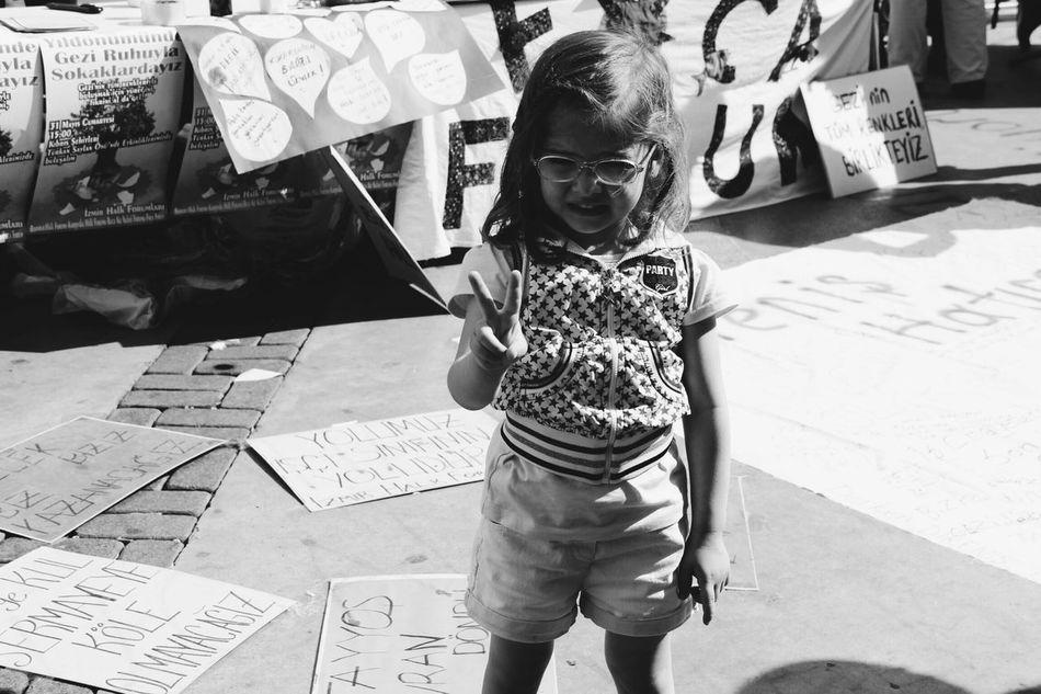 Alsancak Gezi Child Black And White