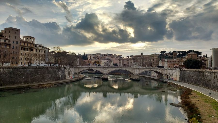 Scenic view of bridge on tiber