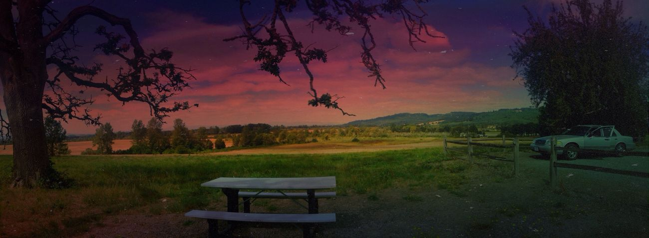 Hanging out at one of my favorite places. IPhoneography Sunset Nature Panorama