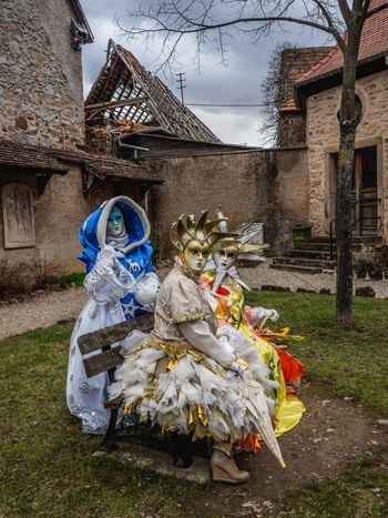Adult Architecture Building Exterior Built Structure Carneval Carneval De Rosheim Carnevale Di Venezia Day Full Length Masks Outdoors People Real People Rosheim Witch