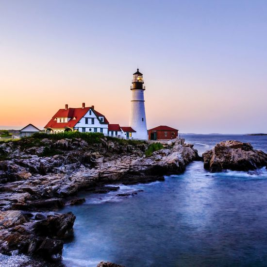 Maine Lighthouse Lighthouse_lovers Lighthouse_captures Lighthousephotography Sunrise_sunsets_aroundworld Sunset Sunset_collection EyeEm Selects Nature_collection Portland Sand Dune Historic Coastline Ocean Shore Tide Calm Tower Rocky Coastline Tranquil Scene Coast Horizon Over Water Coastal Feature