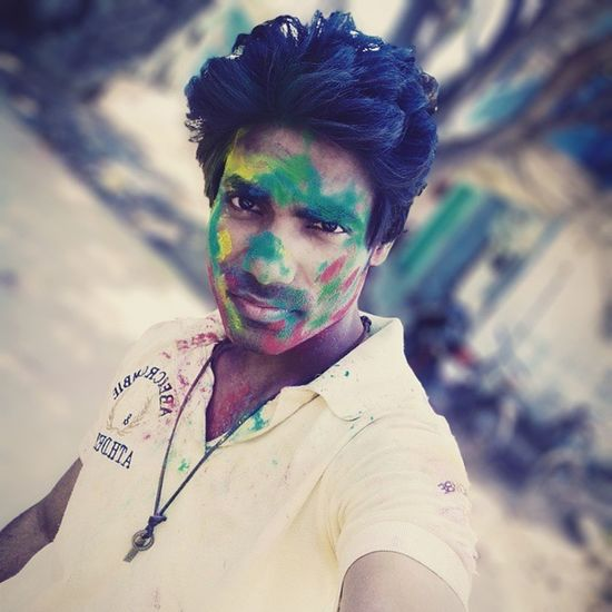 Happy Holi To All My Sweet Friends. Happyholi Holi Rang Gulal Colours Festival Robinraj Mrrob MrRobPhotography Selfie