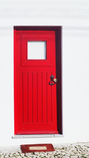 Door Red Safety