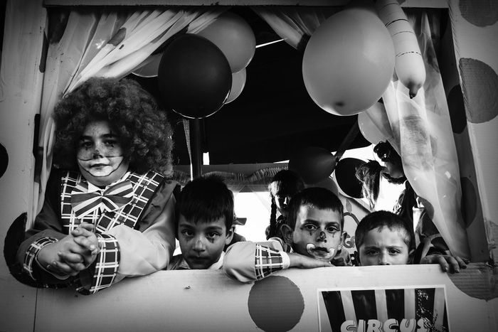 Children Boys Looking At Camera Portrait Child Streetphotography Blackandwhite Carnaval Carnival Tenerife Canary Islands Float Carroza