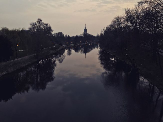 Potsdam Reflection Architecture Built Structure Water Travel Destinations Tree Sky Tourism Outdoors River Travel Building Exterior No People Nature Chain Bridge Day City Iphonephotography Berlin Spandau Berlin Photography Tree