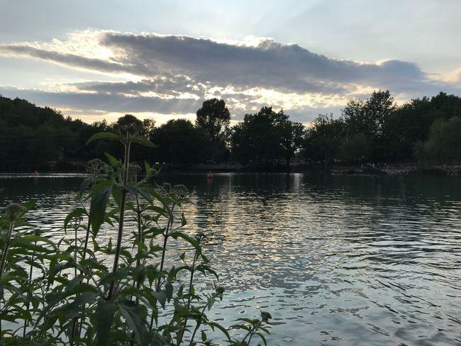 Water Nature Tranquility Lake Sunset