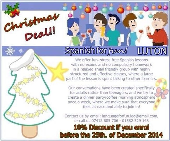 Want to learn Spanish? This is the perfect Christmas present! Spanish Luton Language