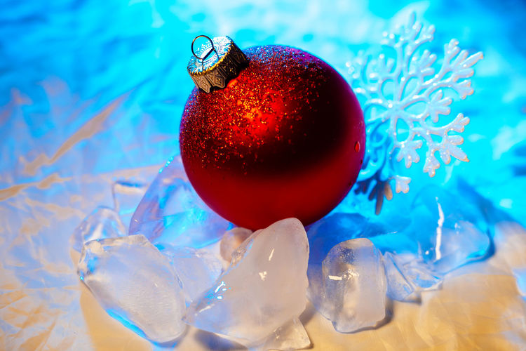 Close-up of red christmas decoration