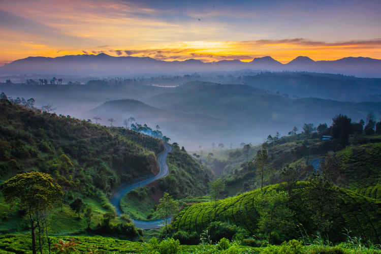 Morning view at cukul pangelang, west java, indonesia