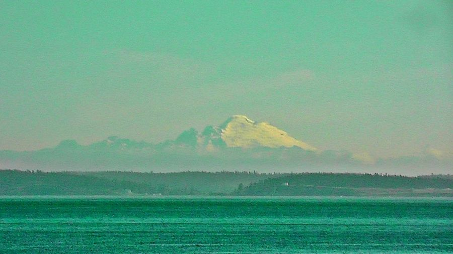 Cascade Mountains Ferryboat Mount Baker Strait Of Juan De Fuca Washington State Beauty In Nature Day Landscape Mountain Mt Baker Nature No People Outdoors Scenics Sea Sky Snowcapped Tranquility