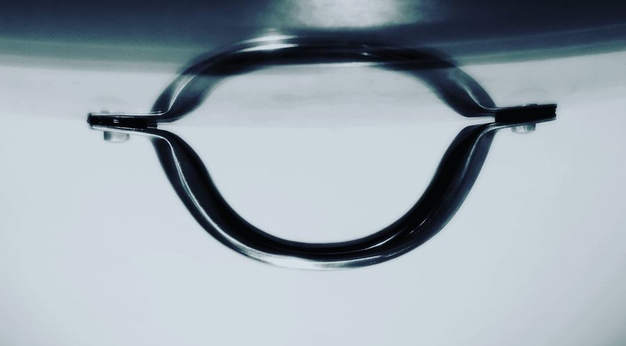 An abstract of a reflection of a metal handle on a lid Abstract Abstract Photography Background Photography Backgrounds Close-up Cookware Food Glassware Glassware Collection... Kitchen Kitchenware Metal Handle Pan Pot Handle